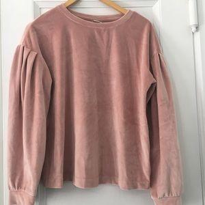 Velvet women's sweatshirt/sweater